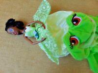 Disney Plush Princess Flip Topsy Turvy Turvey Doll TIANA frog 2010 Mattel