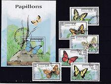 Cambodge 1998 - Block & Sheets - Vlinders / Schmetterlinge / Butterflies