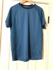 Under Armour Run Heat Gear T-Shirt Size M Teal Shirt Short Sleeves