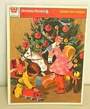 Vintage, 1977, Christmas Morning, Frame Tray Puzzle, Whitman Development