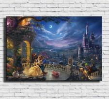 Decor Art Canvas Print Oil Painting Disney beauty and the beast 24x36inch