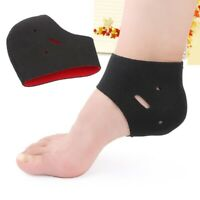 2pc Foot Ankle Pads Cushion Heel Plantar Arch Support Wrap Fasciitis Pain Relief