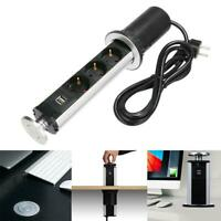 3 Socket 2 USB Electrical Pull Up Power Outlet Kitchen Worktop EU/AU/UK/US Plug