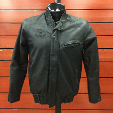 Men's Black Vintage Crooks & Castle Leather Jacket