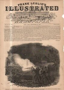1861 Leslie's - Original print only - New Yorkers fall under friendly fire