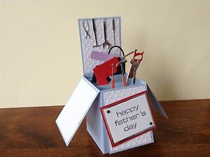 Hand made pop up card tools themed