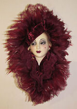 Unique Creations Lady Doll Face Bust Mask Wall Hanging Decor