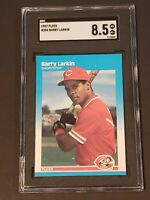 1987 Fleer #204 SGC 8.5 NM/MT+ Barry Larkin Newly Graded and Slabbed PSA BGS