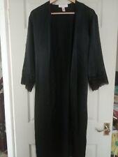 Oscar de la Renta Dressing Gown, Black, M, Lace Detailing, Gorgeous, Lingerie