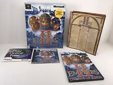Age of Empires II (2) The Age of Kings (PC, 1999) - CD, Book/Manual, and Chart.