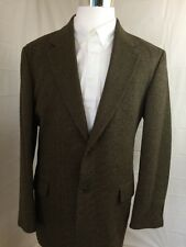 Brown Houndstooth Eddie Bauer 42 Tall Sports Coat/ Blazer -A49