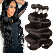 Brazilian Virgin Remy Hair Body Wave Human Hair Weave Extensions 4 Pieces 200g.