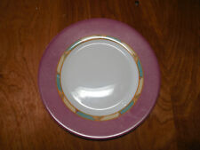 "Luminarc Arcopal France POMPEI Set of 5 Salad Plates 7 5/8"" Pink Rim"
