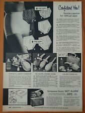1966 Vintage PAPER PRINT AD sanitary panties syringe set hair dryer Kenmore