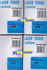 4 TONER TR-TN241BK, TR-TN245C, TR-TN245M, TR-TN245Y COMPATIBLE WITH BROTHER