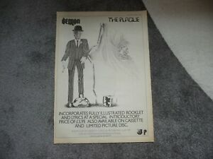 DEMON THE PLAGUE 1983 FULL PAGE PRESS ADVERT POSTER SIZE  37/26CM