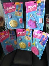 Barbie Play n Display Doll Stand Travel Fantasy Beach Party Video Star Lot of 5