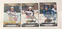 2019-20 Upper Deck MVP hockey ROOKIE GOLD SCRIPT Lot (3 Cards)