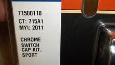 Harley Davidson OEM New chrome switch cap kit 71500110 Dyna Softail