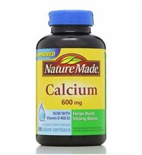 Nature Made Calcium 600 mg With Vitamin D Liquid Softgels 100 ea (Pack of 3)