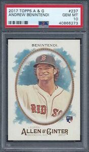 2017 Topps Allen & Ginter #237 Andrew Benintendi Rookie RC PSA 10 Boston Red Sox