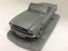 prideindetails Triumph TR4A IRS 1.32 Scale Black Model Car Handmade In Sheffield