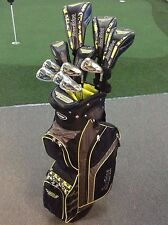 Tour Edge BAZOOKA BLACK Graphite Golf Package + Cart Bag, Putter & Covers