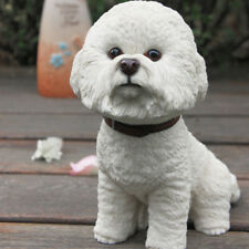 Resin MINI Bichon Frise Dog Hand Painted simulation model Figurine Cute Statue