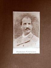 Stampa 1923 Francesco Cantagalli Collaboratore Rivista Illustrazione Italiana