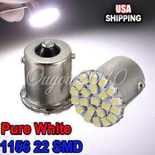2X Car 1156 BA15S Corner Tail Turn Signal 22 LED SMD Bulbs Lamp Lights White US