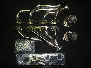 FORD MUSTANG LHD 67-70 289/302 WINDSOR SHORT POLISHED STAINLESS HEADERS (086)