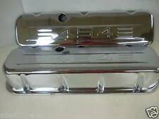 BBC Big Chevy Chrome 454 Valve Covers With Logo Tall Steel