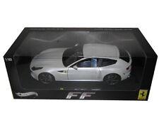 HOT WHEELS ELITE FERRARI FF GT V12 1/18 SCALE WHITE W1119
