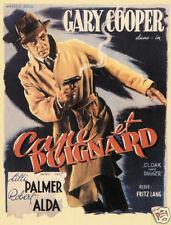 Cloak & dagger Gary Cooper vintage movie poster print