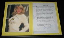 Karen Witter Signed Framed 2001 Letter & Photo Display NYPD Blue Dharma & Greg
