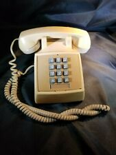 Vintage Tan Bell System Western Electric Telephone Phone 2500DM Push Button