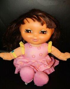 "Fisher-Price Dora the Explorer ""Sleepy Dreams"" Plush Soft Doll 13"" Talks & Sings"