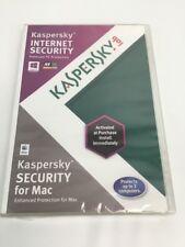 Kaspersky Internet Security 2012 For Mac OSX 10 Windows 8 Sealed Brand New