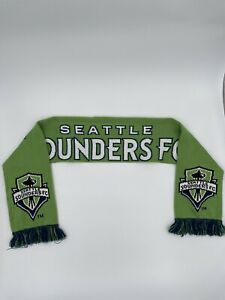 """Seattle Sounders FC Scarf Signed by Trey Muse? Length: 50"""" Green Blue Soccer EUC"""