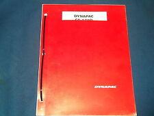 DYNAPAC CA-121D VIBRATORY COMPACTOR PARTS CATALOG BOOK MANUAL