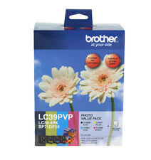 Genuine Brother LC39PVP Value Pack (LC39BK LC39C LC39M LC39Y +Photo Paper) BNIB