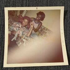 Sexy African American Lady Wraps Bandana Girlfriend Vintage 1970s Photograph