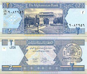 Afghanistan 2 Afghanis 2002 UNC