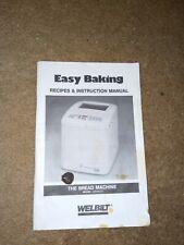 Welbilt Bread Machine Maker Original Manual Abm6000 booklet. Free shipping