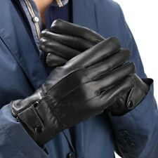 High Quality Men Waterproof Leather Gloves Autumn Winter Driving Warm Mittens