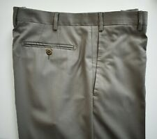 NWT Authentic ZANELLA *TODD* Khaki 100% WOOL FLAT Front Dress Pants 36