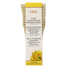 GiGi Natural Muslin Epilating Strips, Petite 100 ea