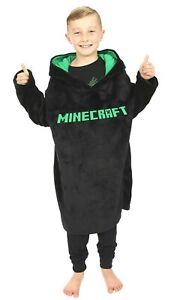 Minecraft Oversized Blanket Hooded Fleece For Boys Girls Keep Warm Gaming