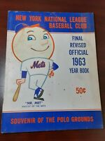 1963 NY Mets Final Revised Yearbook Vintage Rare! Very good condition! Free Ship