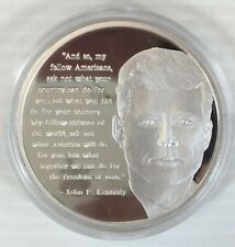 More details for great leaders great words john f kennedy silver plated coin
